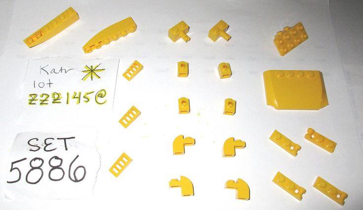 > > > $12.50 < < < #ebay 5886 Yellow Curved Brick 93274 87087 61409 4 LEGO SET 5887 7249 5885 7641 7685  #LEGO