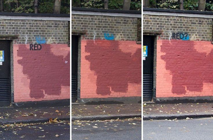 L'hilarante gué-guerre entre un graffeur facétieux et des autorités tâtillones en 24 photos! - http://positivr.fr/graffiti-peinture-rouge/