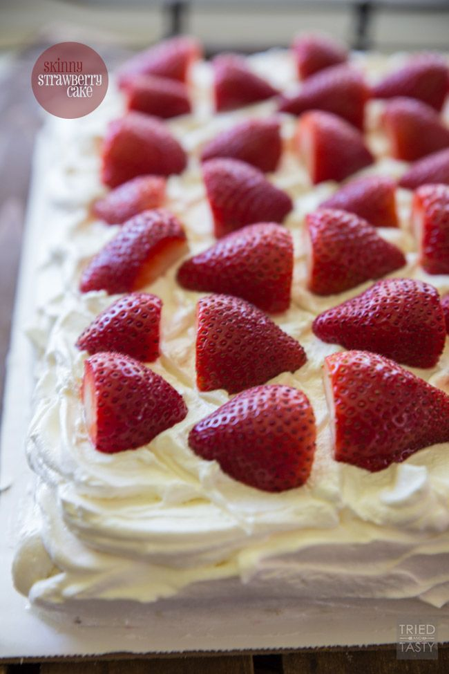 Skinny Strawberry Cake