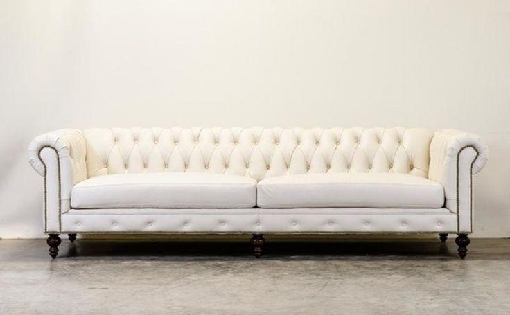 Chesterfield Sofa White