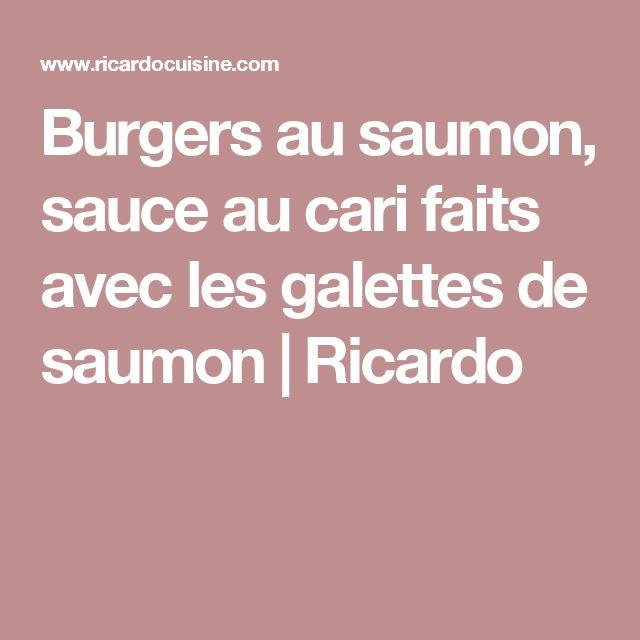 Burgers au saumon, sauce au cari faits avec les galettes de saumon | Ricardo