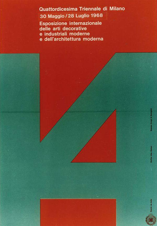 XIV Esposizione Internazionale della Triennale di Milano, 1968; Graphic Design by Albe Steiner