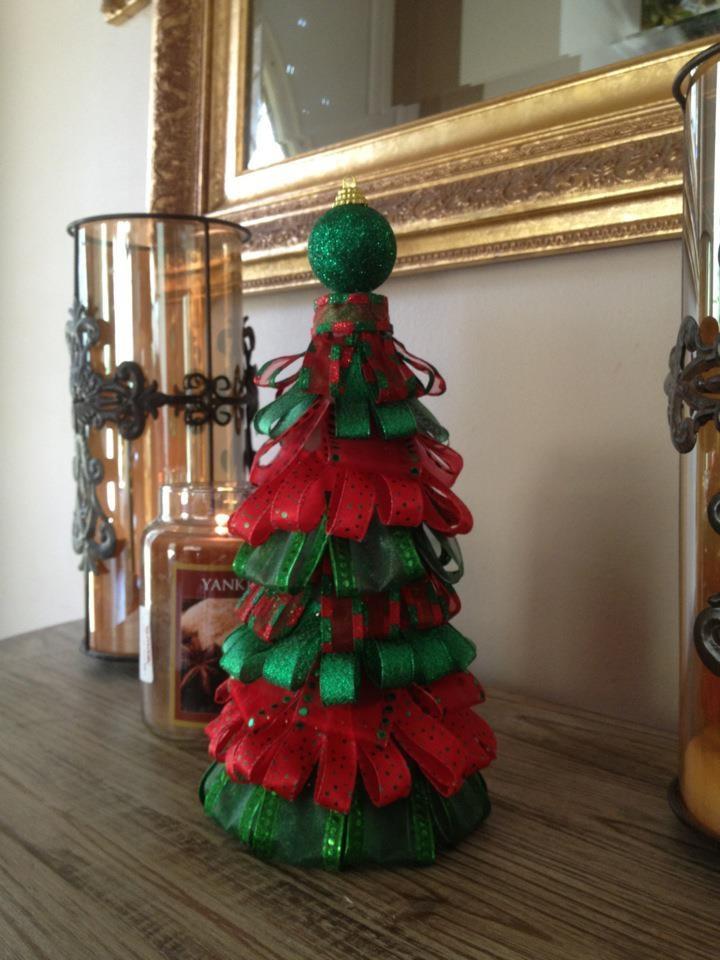 Ribbon Christmas Tree Craft Ideas Pinterest Trees