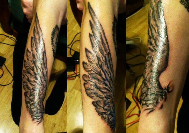 Wing tattoo for a friend last year