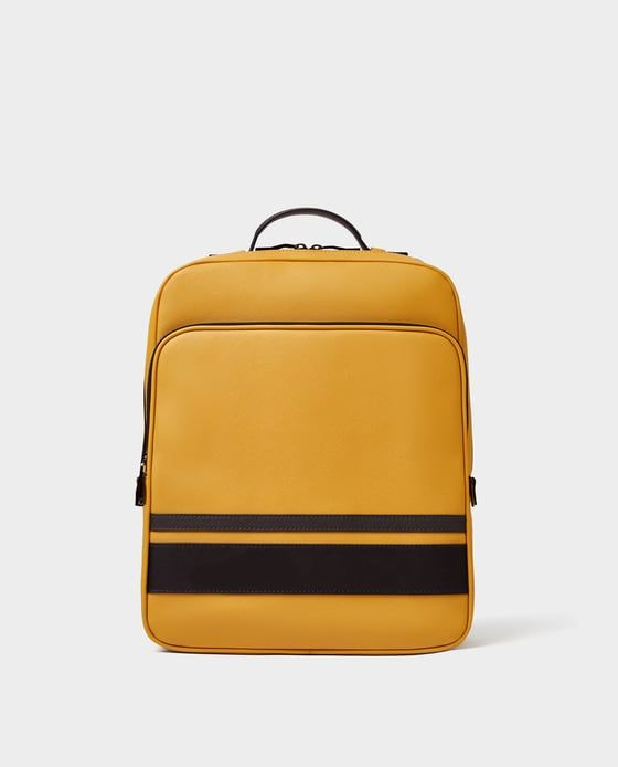 0765b52707d Image 3 of SMART YELLOW BACKPACK from Zara Yellow Backpack, Cool Backpacks,  Kill Bill