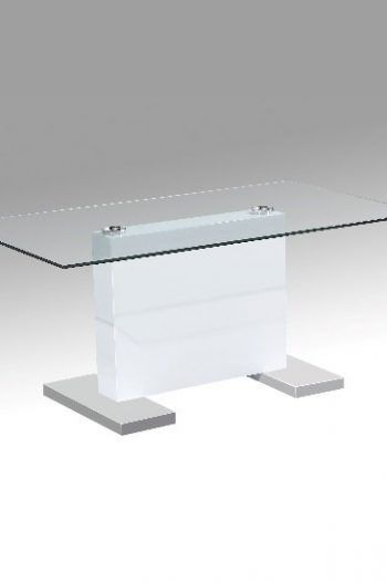 Jacky Glass Coffee Table In White Gloss And Stainless Steel Base 220x330 Great Glass Coffee Tables For The Living Room