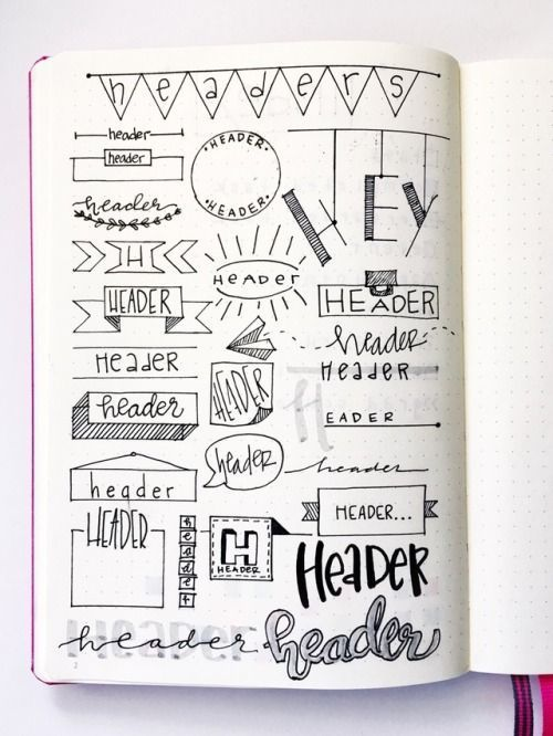 16 Super Cool Bullet Journal Header Ideas Like Pro…