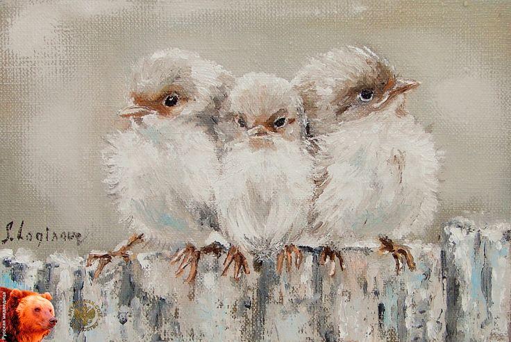 """Три маленькие птички"", хм., 15на 20, худ. Светлана Логинова"