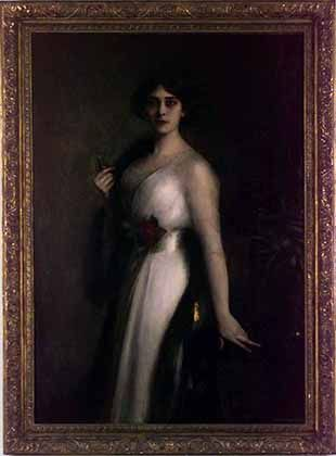 Retrato de Victoria Ocampo. Artista: Dagnan Bouveret. Fecha: 1910.