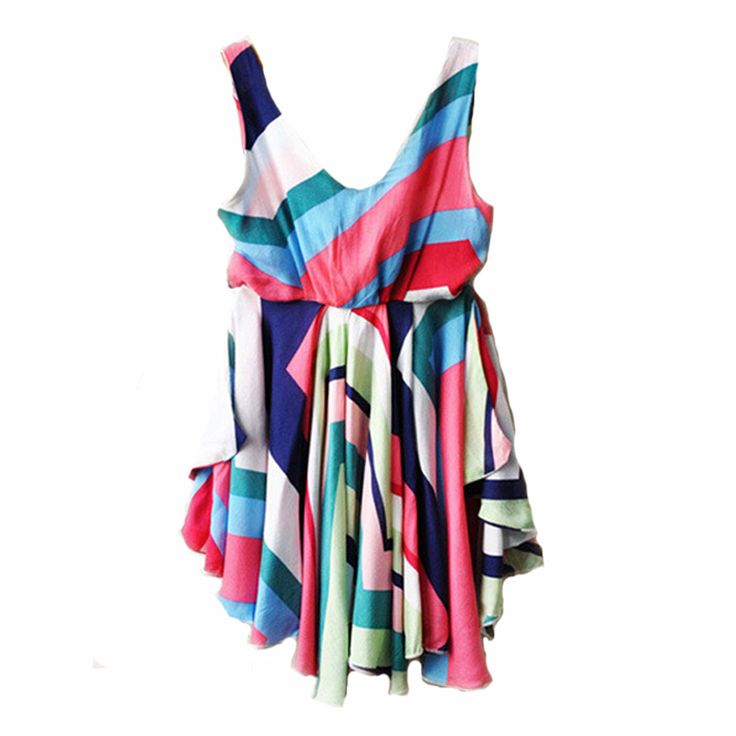 Baby girl dress stripe summer 2017 kids clothes fashion brand little girl dresses high quality rainbow kids dress for girls cute