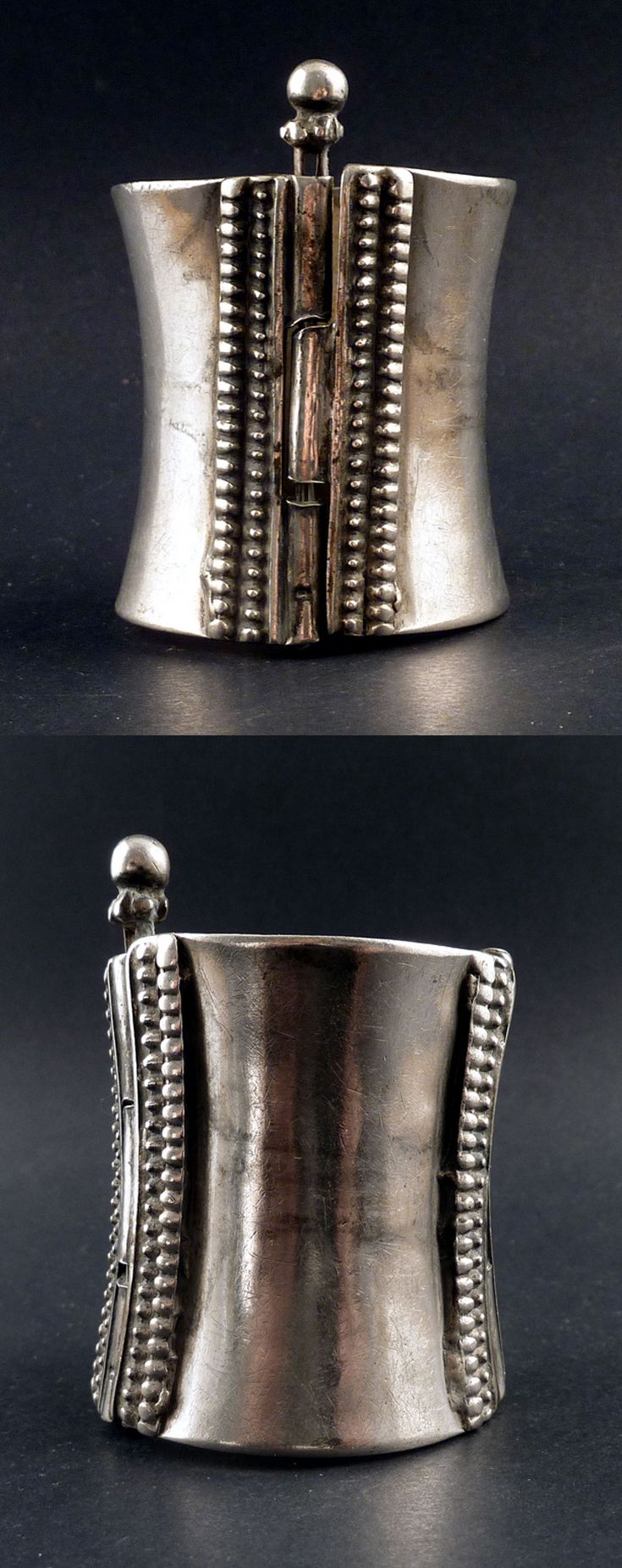 India | Old silver tribal cuff End 19th to early 20th century