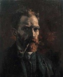 Self-portrait with pipe, 1886  Vincent van Gogh (1853-1890)    Oil on Canvas, 46 X 38 cm  Van Gogh Museum, Amsterdam  (Vincent van Gogh Stichting)  F 180