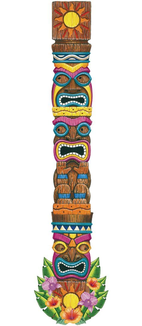 Jointed Tiki Totem Cutout 6ft - Party City for the tent legs