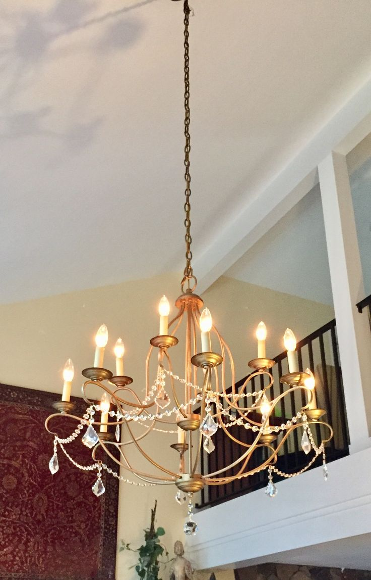 Living Room Lighting Using A Crystal Chandelier By Livex In The Chesterfield Antique