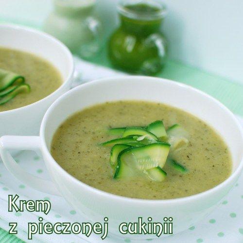zupa krem z pieczonej cukinii