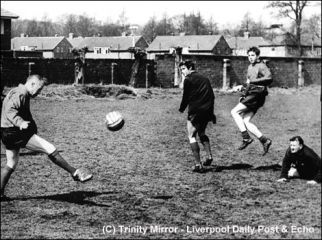 Shankly in training at Melwood