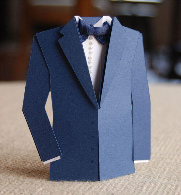 Открытка мужской костюм