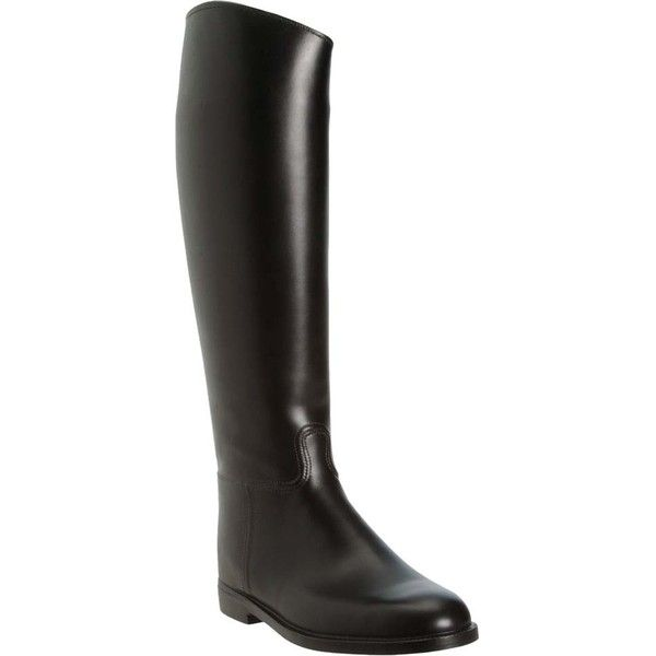 Pre-owned Aigle Ecuyer Waterproof Rubber Riding Black Boots ($179) ❤ liked on Polyvore featuring shoes, boots, black, black slip on boots, pull on boots, waterproof boots, equestrian boots and aigle boots