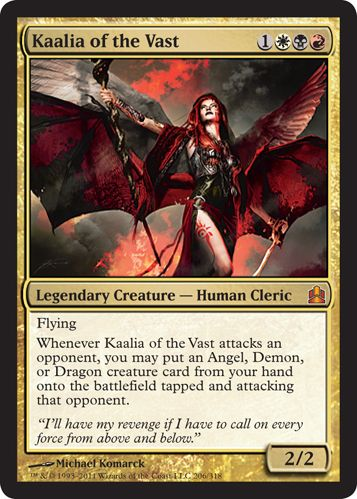 Kaalia of the Vast-never seen this card before but it definitely has possibilities.