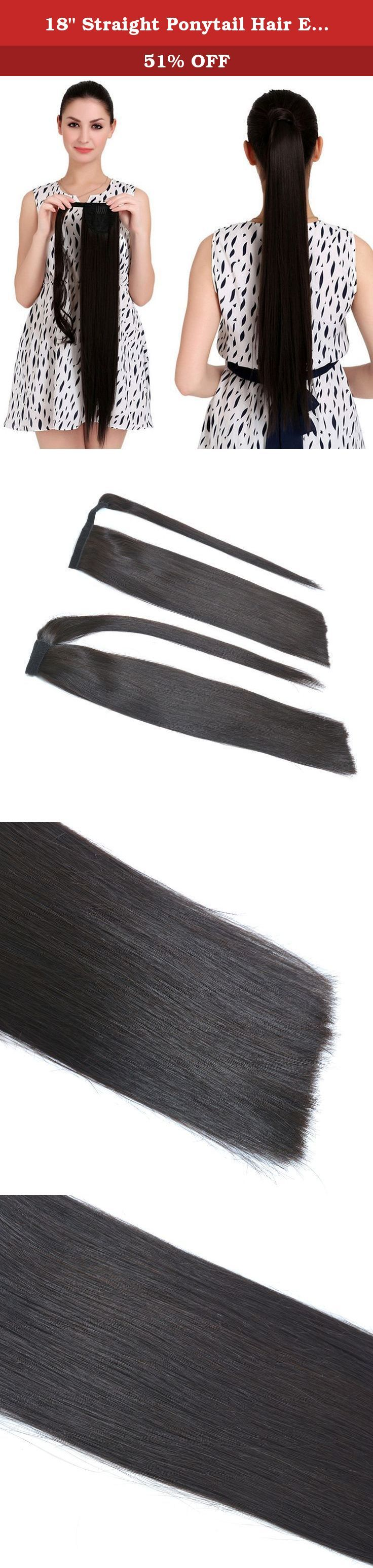 "18"" Straight Ponytail Hair Extension Human Hair Wrap Ponytail Hairpiece 100g Natural Black 1b#. BEAUTY PLUS hair Ponytail Hair Extensions BEAUTY PLUS...in two minutes or less! One of the most amazing, fun and innovative products you will love to wear! BEAUTY PLUS is amazing in quality and the simplest and quickest extensions to apply! BEAUTY PLUS human hair ponytail extensions can be curled or flat ironed just like your own hair. Now you can have longer, thicker, more voluminous BEAUTY…"