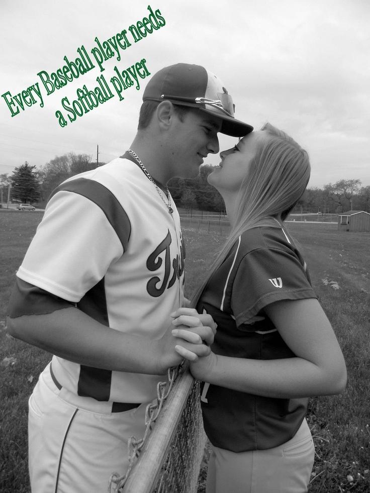 Baseball / Softball / Couples / Love / Young Love / Young Couples / Sports / Couples Senior Picture / Sports Couples