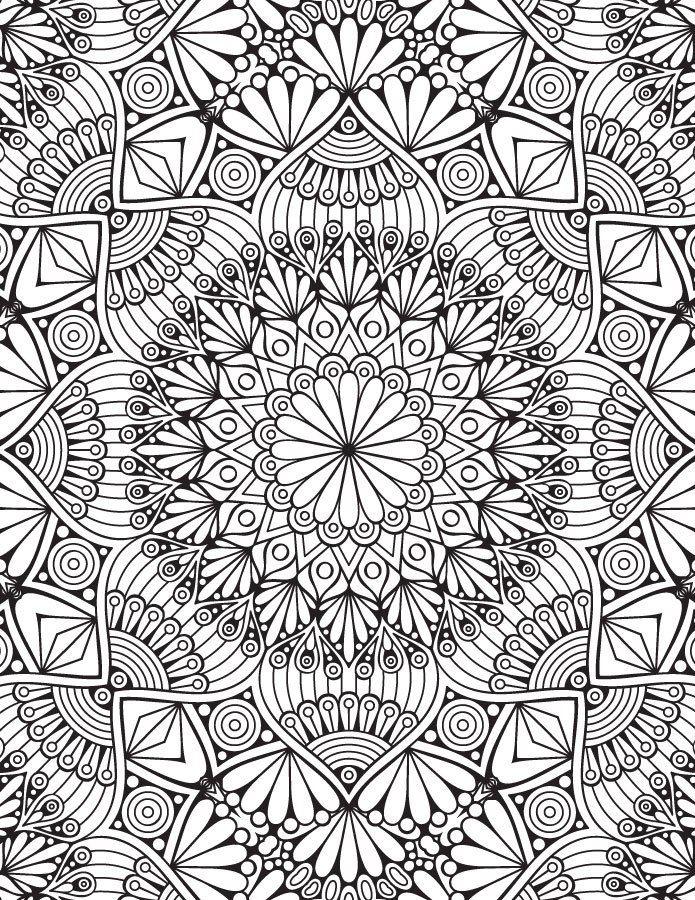 606 best coloriages et mandala images on pinterest coloring book coloring books and colouring - Mandala adulte ...
