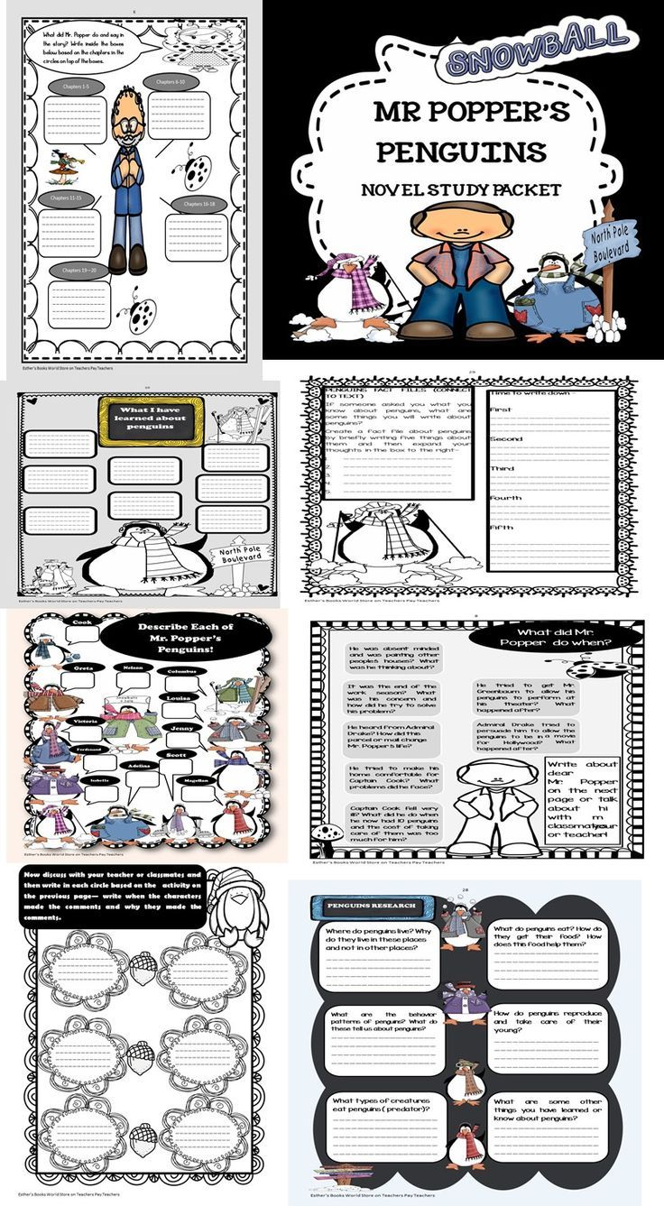 Mr Popper's Penguins Activity Packet