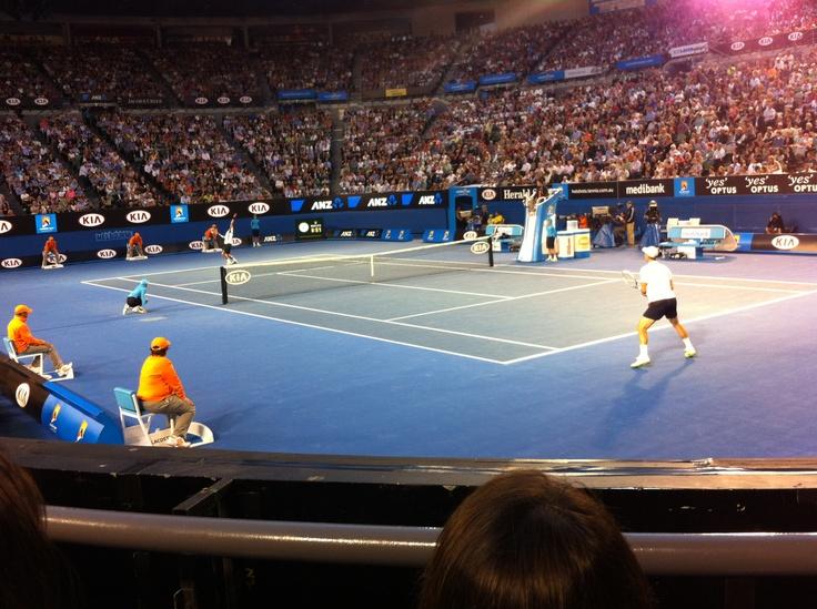 Want play some tennis? Australian Open, Rod Laver Arena, Djokovic vs Berdych