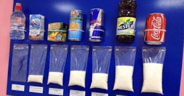 Ένα διαφορετικός διατροφικός πίνακας που εμπεριέχει την ποσότητα ζάχαρης ροφημάτων αναρτήθηκε σε σχολείο της Ιταλίας. Σίγουρα κάτι παρόμοιο θα έπρεπε να υπ