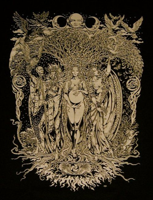 Triple Goddess: Maiden, Mother,  Crone. One day in life you will have been all of these....