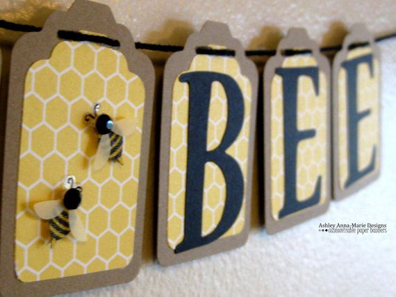 Mommy to Bee Baby Shower Banner Bee Themed by AshleyAnnaMarie, $14.50