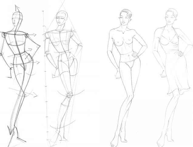 How To Draw A Fashion Figure Fashion Sketch Templates