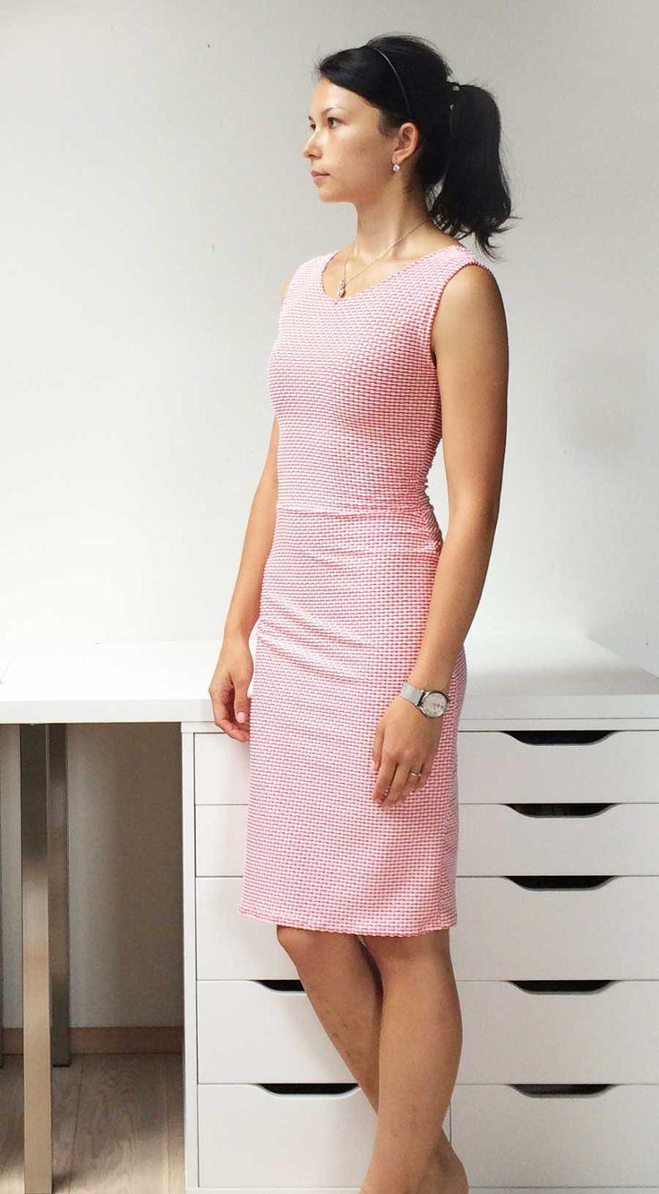 Jednoduché ručně šité dámské letní šaty podle Burdy / Handmade simply sewed womens summer dress Burda pattern