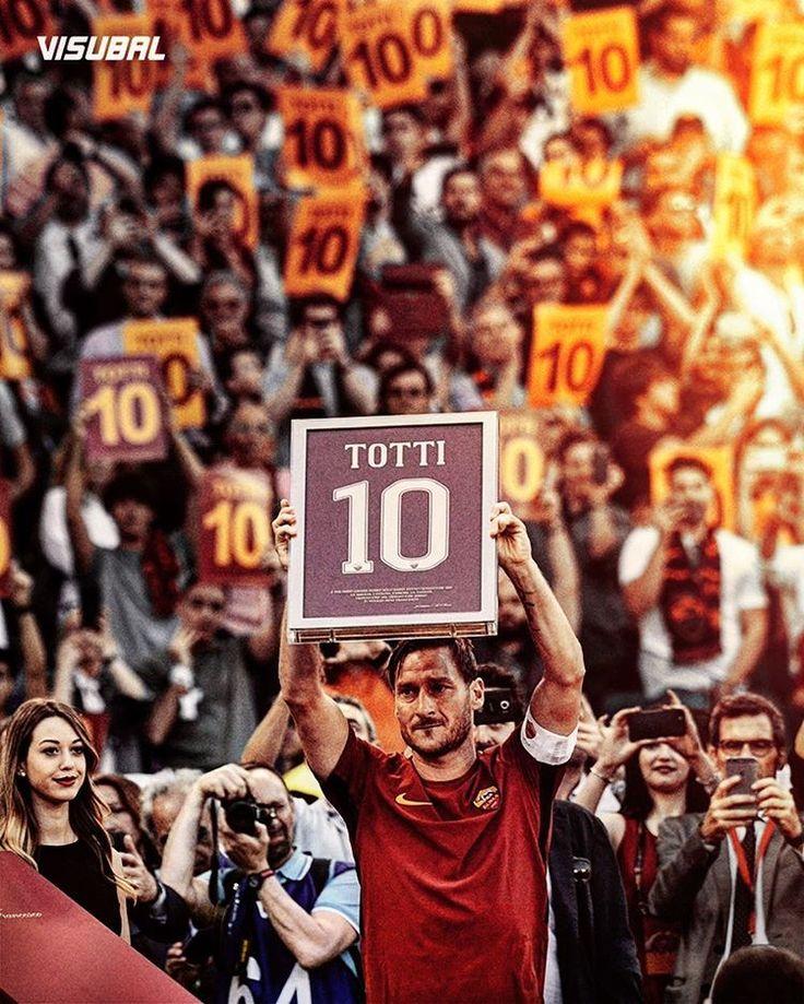 A true club legend says farewell, Francesco Totti