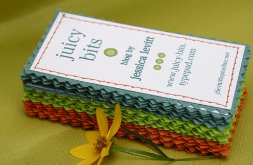 For the Working Mom: Amazing Fabric Business Cards