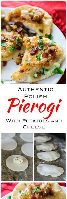 Authentic Polish Pierogi with Potato and Cheese