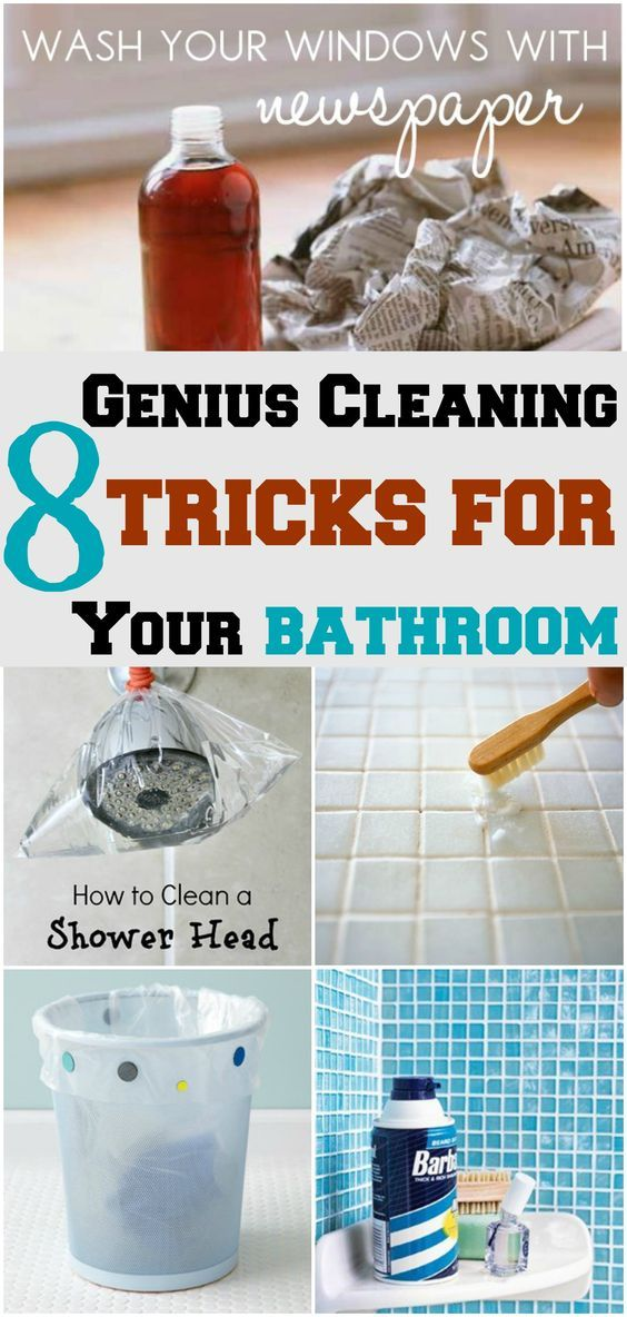 8 genius cleaning tricks for your bathroom