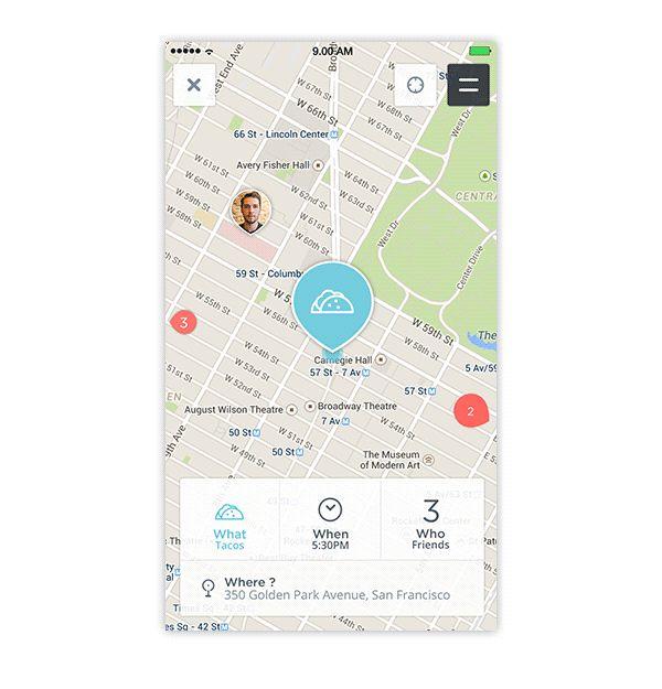 Map App Design Concept 3