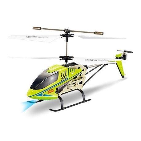 SYMA 3 CH REMOTE CONTROL CELERITY HELICOPTER WITH GYRO - S8 - GREEN  Model:  YMTH06GR Syma Remote Control Helicopter termurah hanya di Gudang Gadget Murah. Syma 3 menggunakan teknologi GYRO yang membuat helicopter terbang lebih stabil. Syma 3-S8 dilengkapi dengan lampu LED sehingga tetap dapat digunakan pada malam hari. Syma 3-S8 hadir dengan design yang halus dan ideal - Green