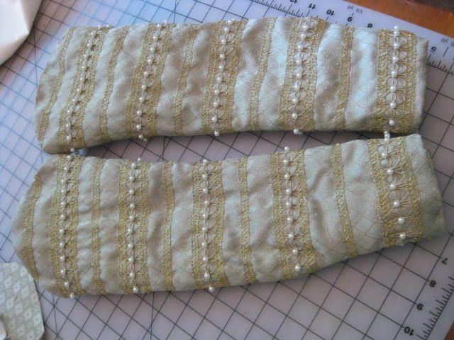 Undersleeve details!   Woodsholme Handworks - Custom Elizabethan gown project continues