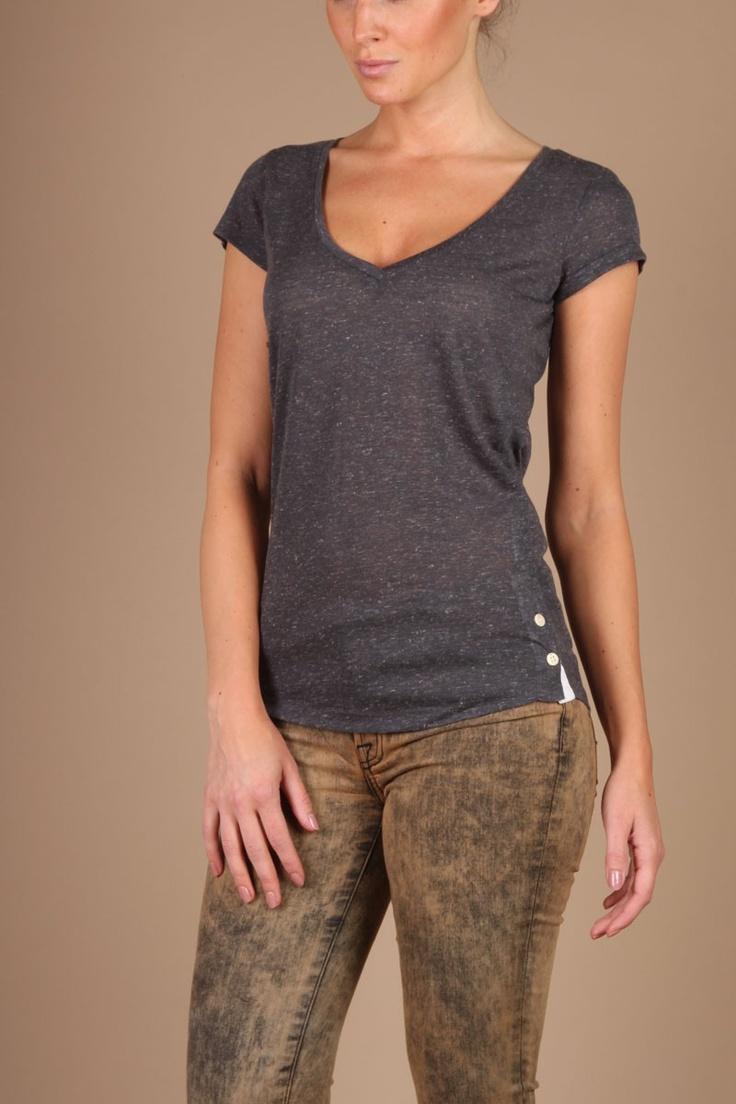 T-shirt Fit   grey...   Denham   Little Soho   The Online Fashion Boutique