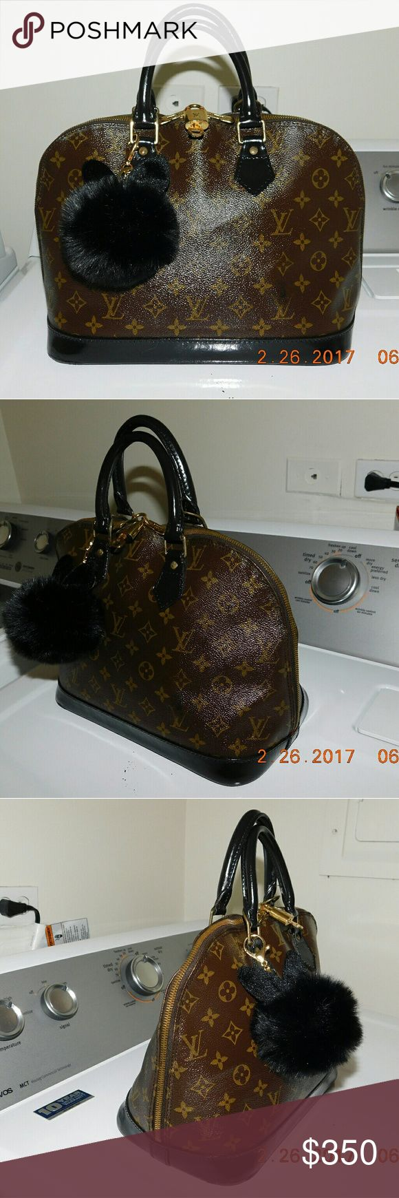 """Louis Vuitton Alma bag Painted and sealed, this alma bag by Louis Vuitton wont ever crack or look any different. Looks brand new """"and improved""""! Louis Vuitton  Bags Satchels"""