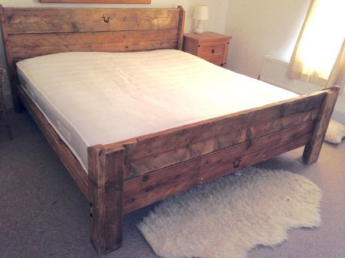 Handmade-Rustic-Reclaimed-Shabby-Chic-Bed-Frame-single-double-kingsize-superking