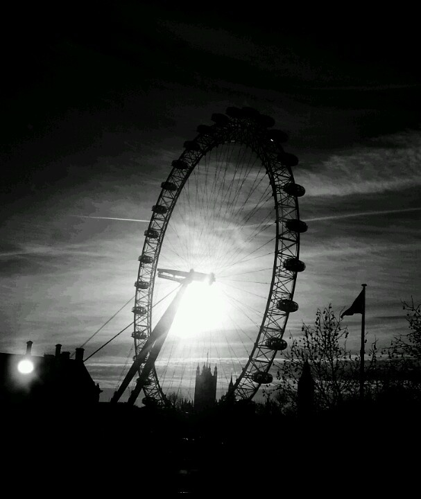 Dramatic London. Experimenting with camera phone editing.