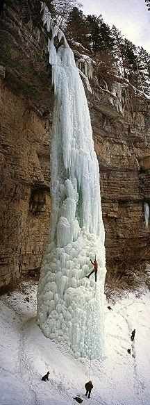 The Fang in Vail, Colorado, USA / frozen waterfall / climbing