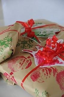 Homemade Christmas Wrap #christmas, #wrapping