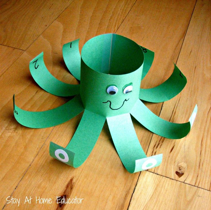 Counting octopus for ocean preschool theme - Stay At Home Educator