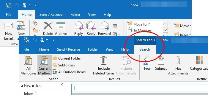 How To Add The Search Tab To The Outlook Ribbon In 2020 Outlook Ads Pc Repair Tool