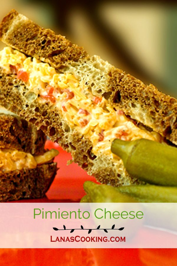 A true Southern classic - Pimiento Cheese. Sharp cheddar cheese, pimiento peppers, and mayo. The real deal! From @NevrEnoughThyme http://www.lanascooking.com/pimiento-cheese via @NevrEnoughThyme