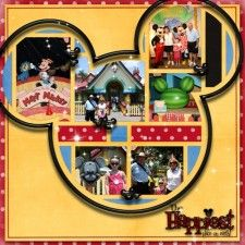 Pics in mickey head- lots of other cute layouts